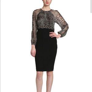 NWT Badgley Mischka✨leopard combo dress